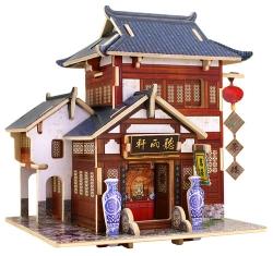 中国古代茶楼 木制立体拼装小屋兰州专卖店