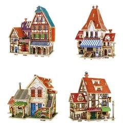 甘肃兰州木制拼装玩具 小洋楼古建筑批发
