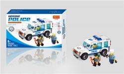 警察拼装玩具 益智积木